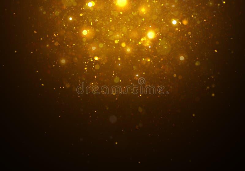 Magisches goldenes Sternlicht stockfoto