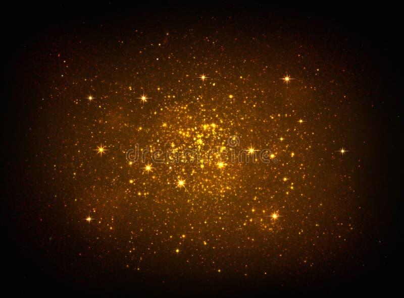 Magisches goldenes Sternlicht lizenzfreie stockfotos
