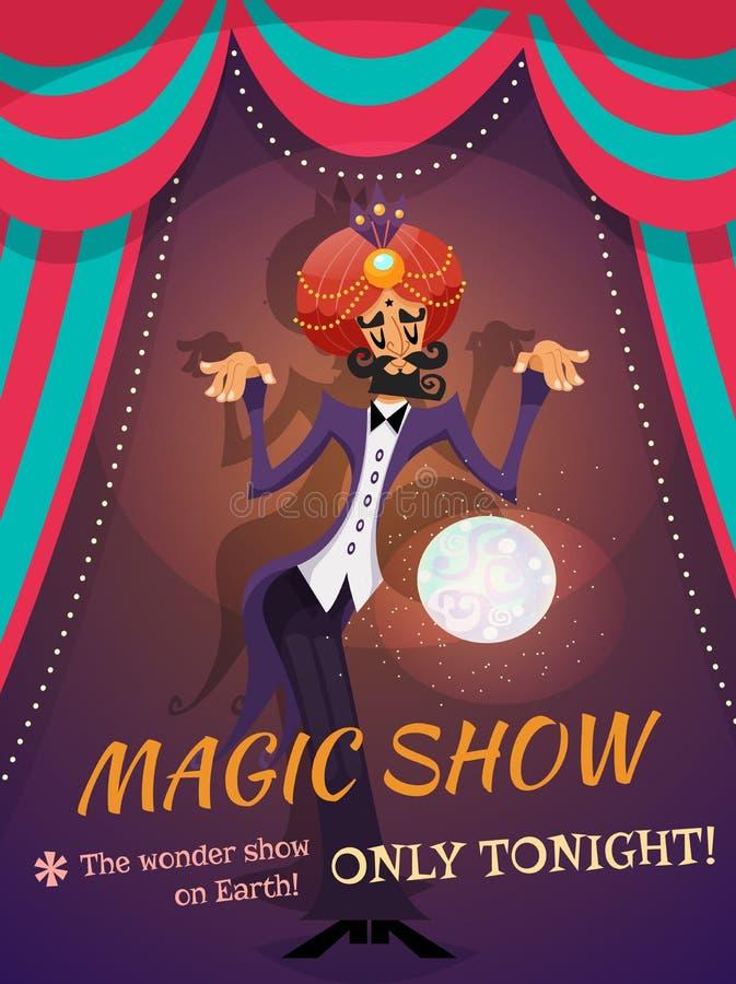 Magisches Show-Plakat lizenzfreie abbildung