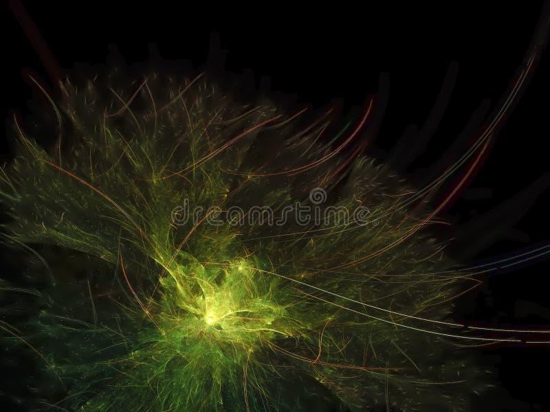 Magisk bakgrund för abstrakt för fractal digital futuristisk för fantasi färgrik för yttersida presentation för baner fantastisk, royaltyfri bild