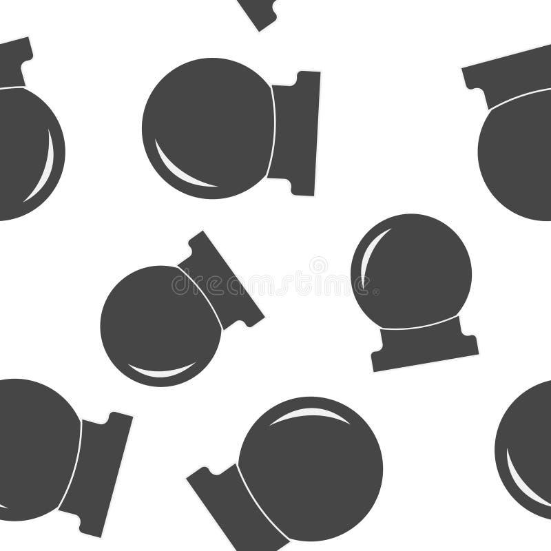 Magisk bollvektorsymbol En sfär för sömlös modell för spådom och för magiska ritualer på en vit bakgrund vektor illustrationer