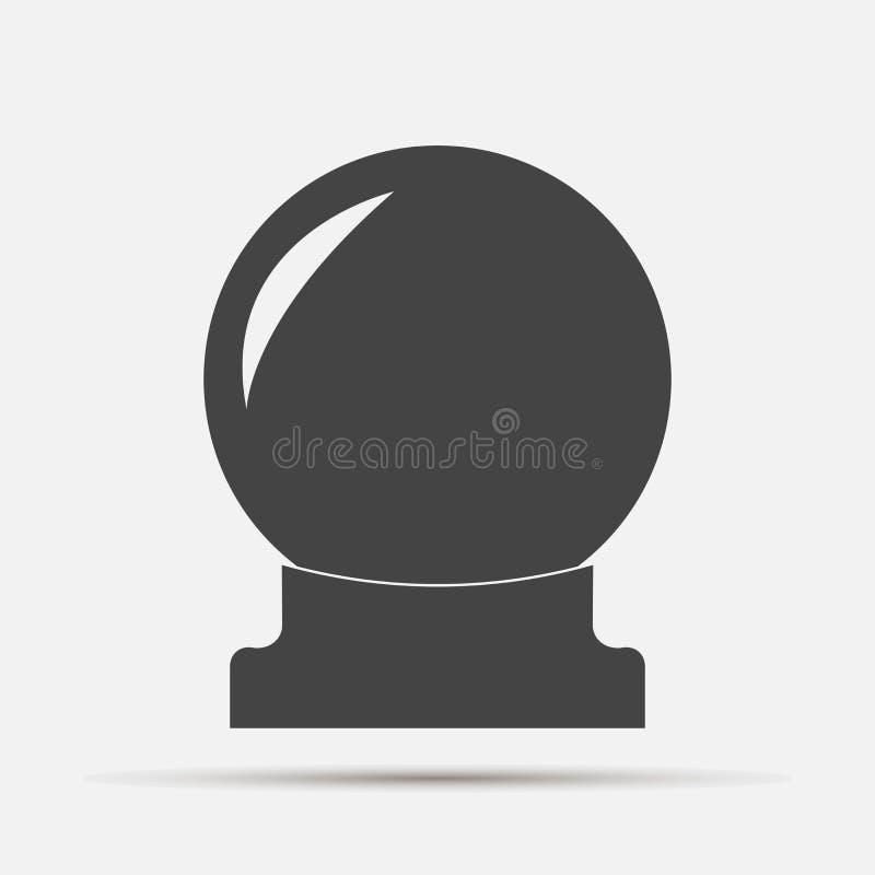 Magisk bollvektorsymbol En sfär för spådom och magiritual royaltyfri illustrationer