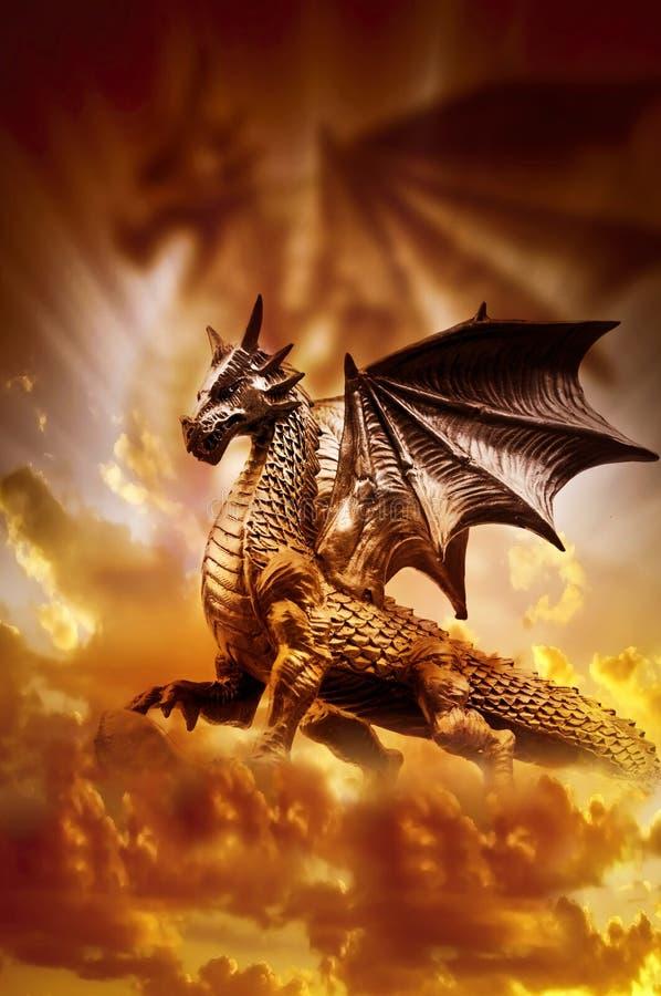 Magisk drake arkivbild