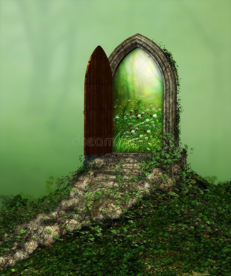 Magisk fantasidörröppning royaltyfri bild