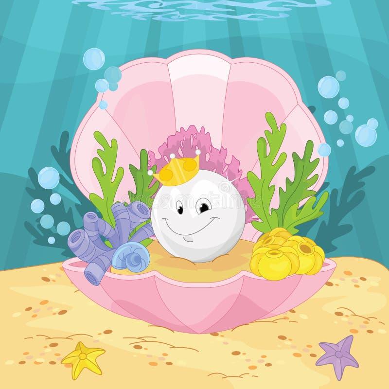 Magisk fe Shell Royal Pearl royaltyfri illustrationer