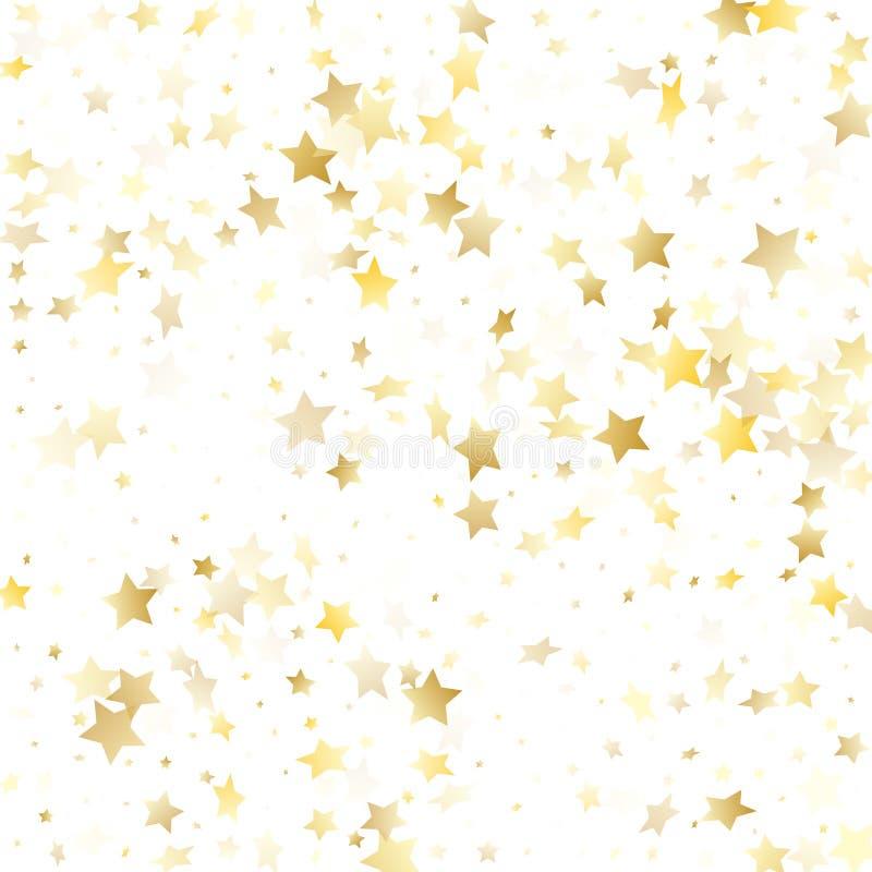 Magisk guld- bakgrund för stjärna för gnistrandetexturvektor vektor illustrationer