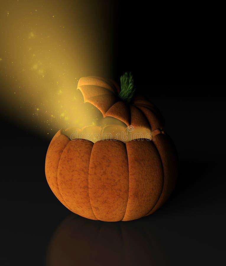 Magisk Halloween pumpa vektor illustrationer