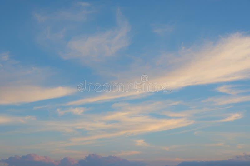 Magisk himmel och moln på gryning-, soluppgång- och solnedgångdel 9 royaltyfria bilder