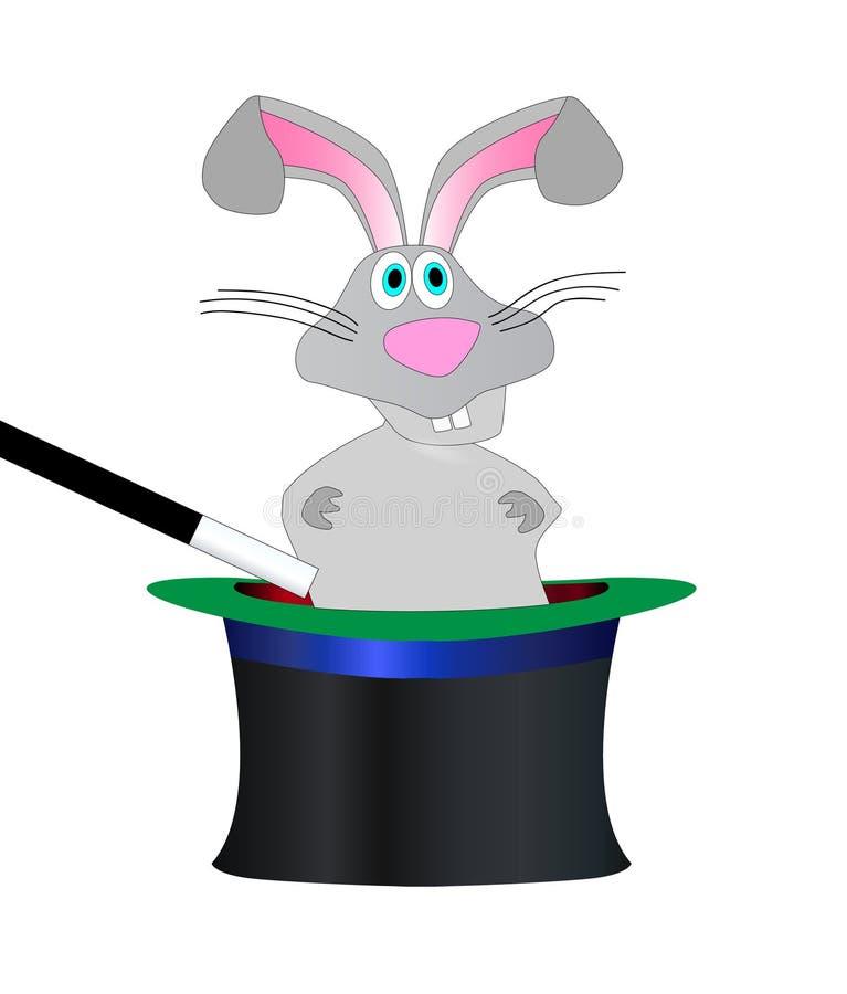 Magisk kaninhatt vektor illustrationer