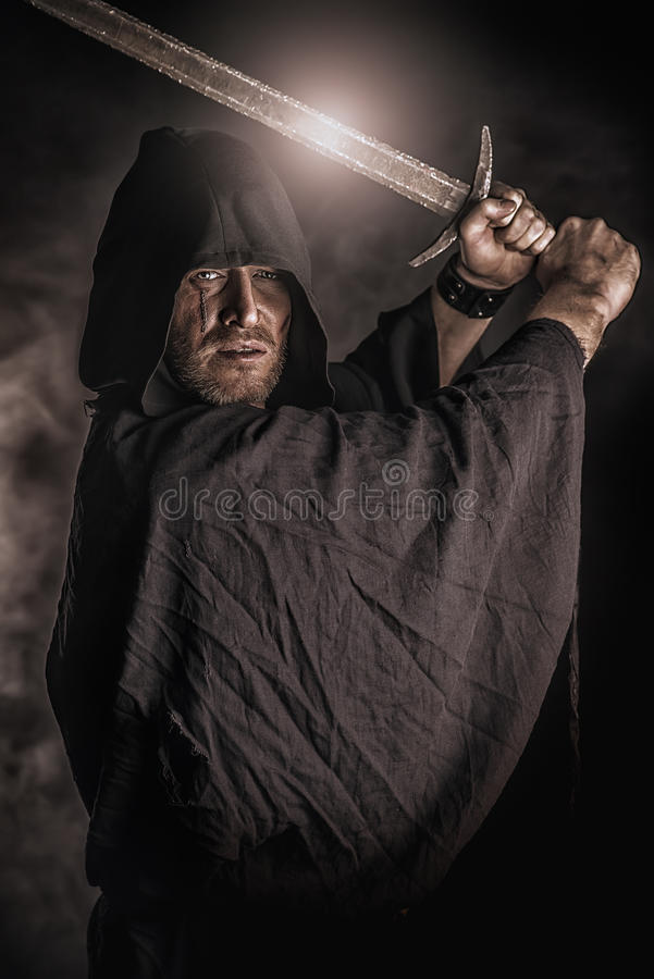Magisk krigare royaltyfri foto