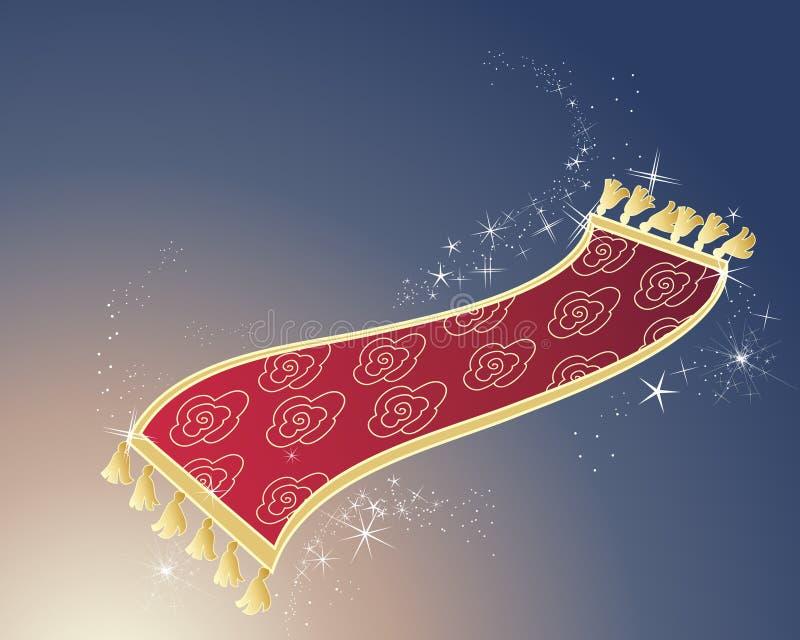Magisk matta royaltyfri illustrationer