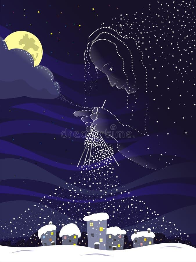 Magisk natt vektor illustrationer