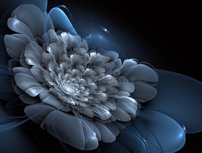 Magisk nattfantasi Abstrakt exotisk fractalbakgrund stock illustrationer