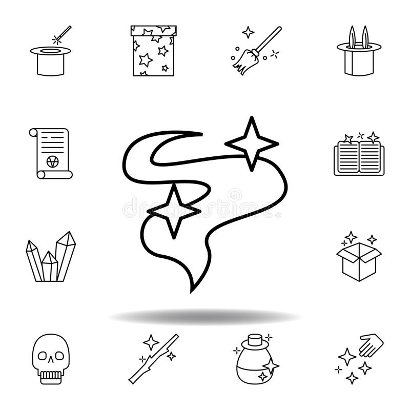 Magisk r?k?versiktssymbol beståndsdelar av den magiska illustrationlinjen symbol tecknet symboler kan användas för rengöringsduke royaltyfri illustrationer