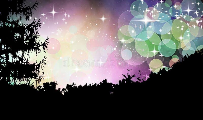 Magisk skog vektor illustrationer