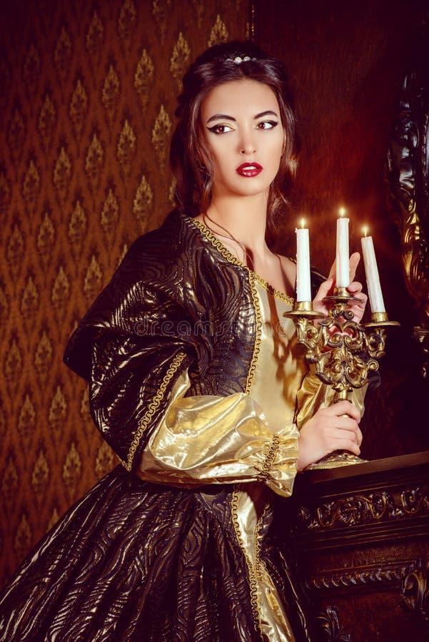 magisk slott royaltyfria bilder