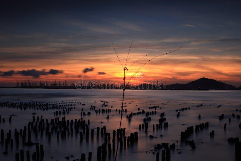 magisk solnedgång arkivbilder