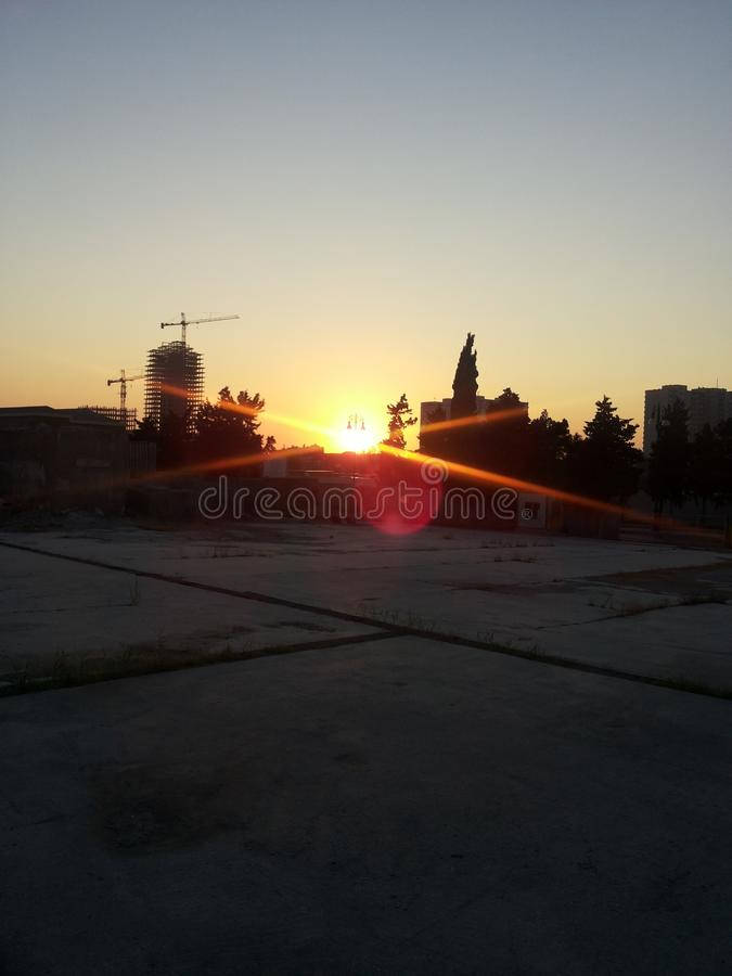 magisk soluppgång royaltyfria foton