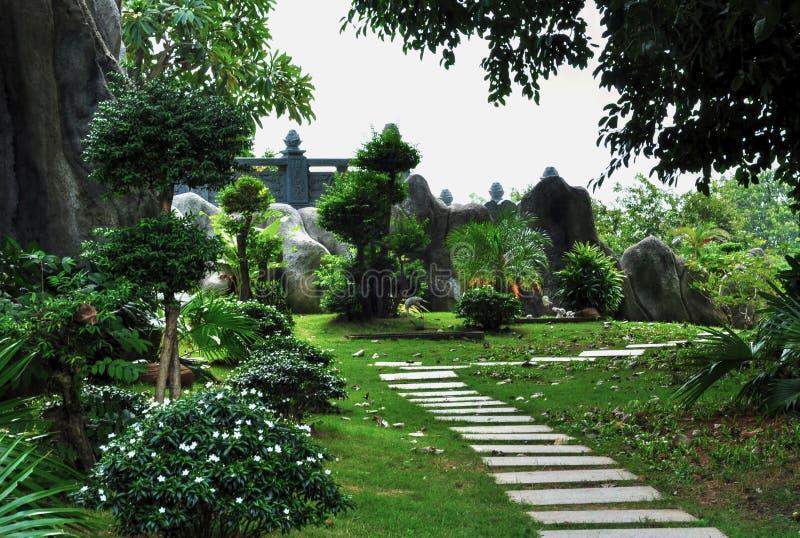 Magisk sommarträdgård royaltyfri foto