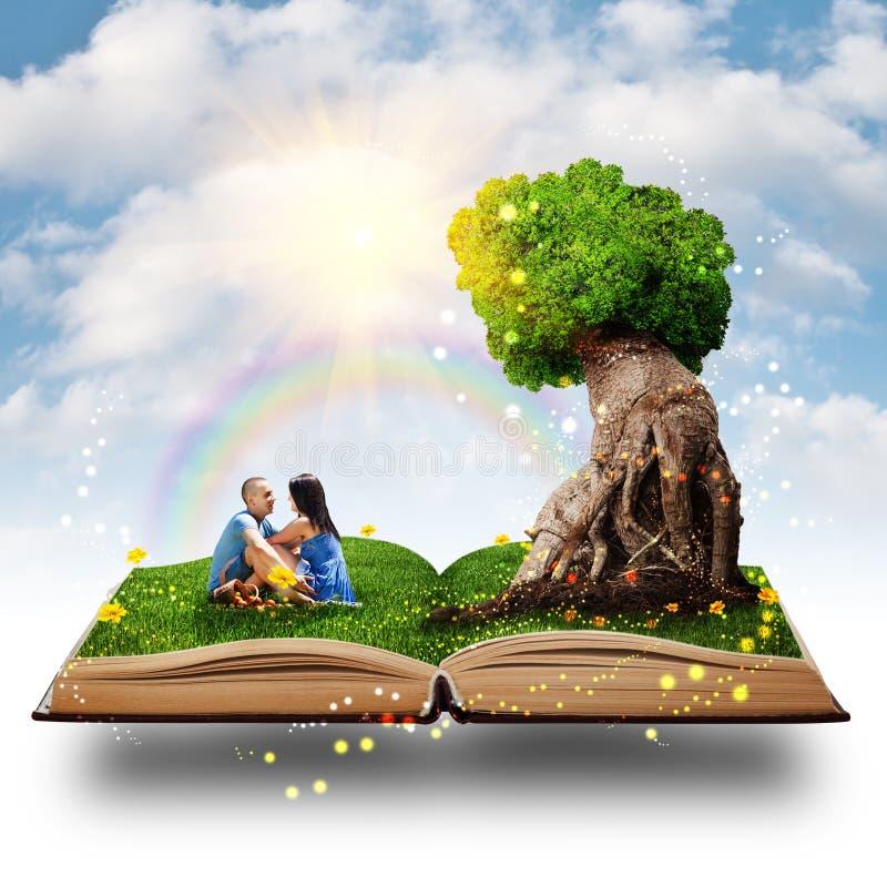 Magisk treeförälskelse royaltyfri illustrationer