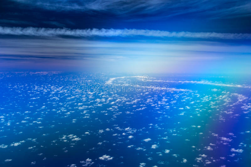 Magisk väg i himlen royaltyfri bild
