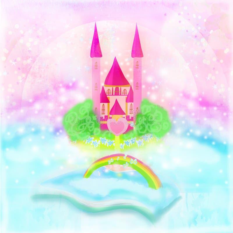 Magisk värld av sagor stock illustrationer