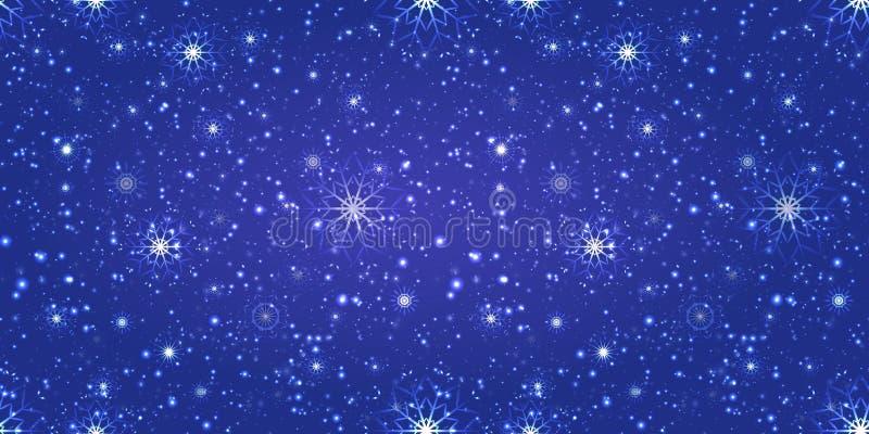 magisk vinter för bakgrund suddig upprepad textur Snöflingor och snowfalling tapet felik bakgrund Bra val för ferier vektor illustrationer