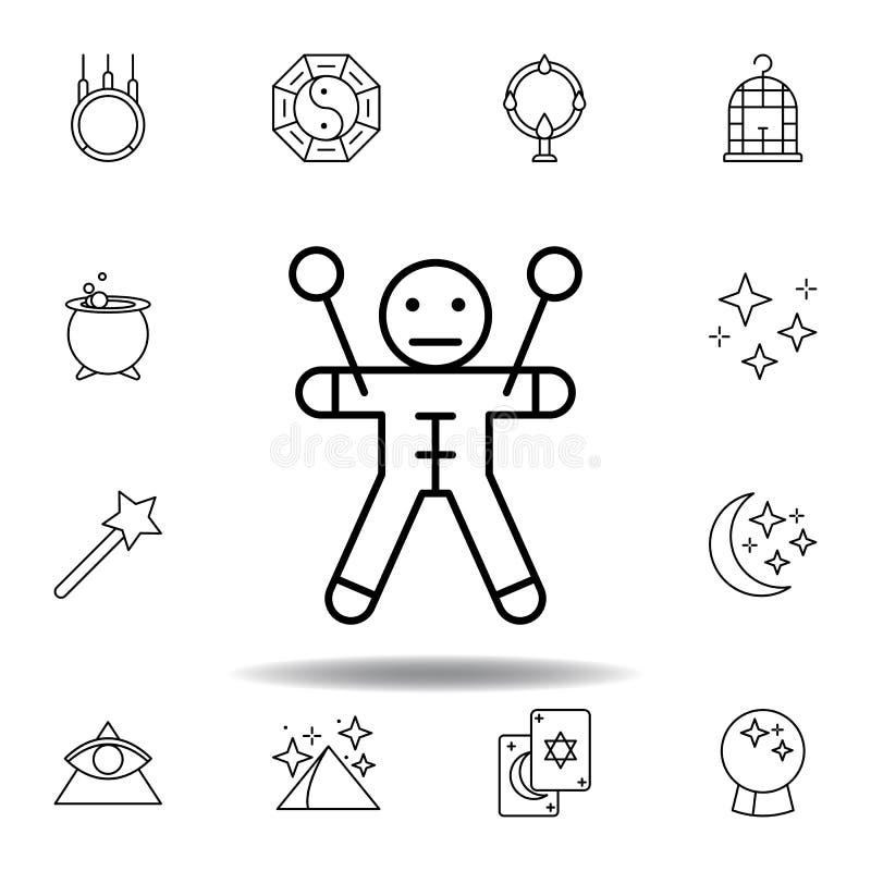 Magisk voodoo?versiktssymbol beståndsdelar av den magiska illustrationlinjen symbol tecknet symboler kan användas för rengöringsd vektor illustrationer