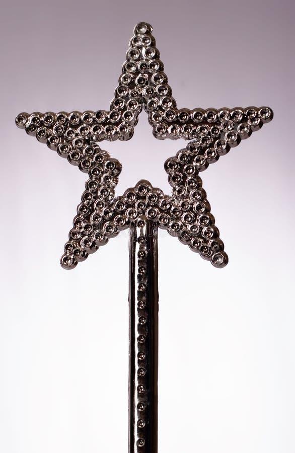 Download Magisk wand arkivfoto. Bild av blänka, silver, stjärna - 249388