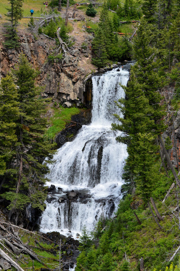 Magisk Yellowstone vattenfall arkivbild