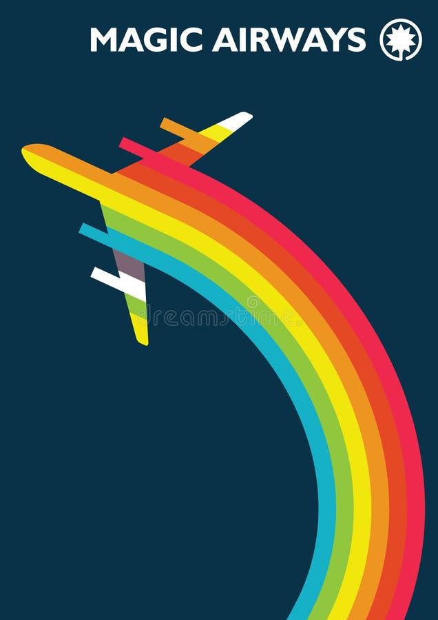 magiska flygbolag stock illustrationer