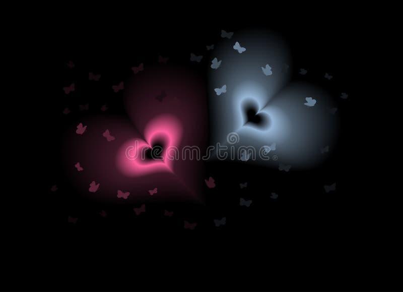 magiska hjärtor vektor illustrationer