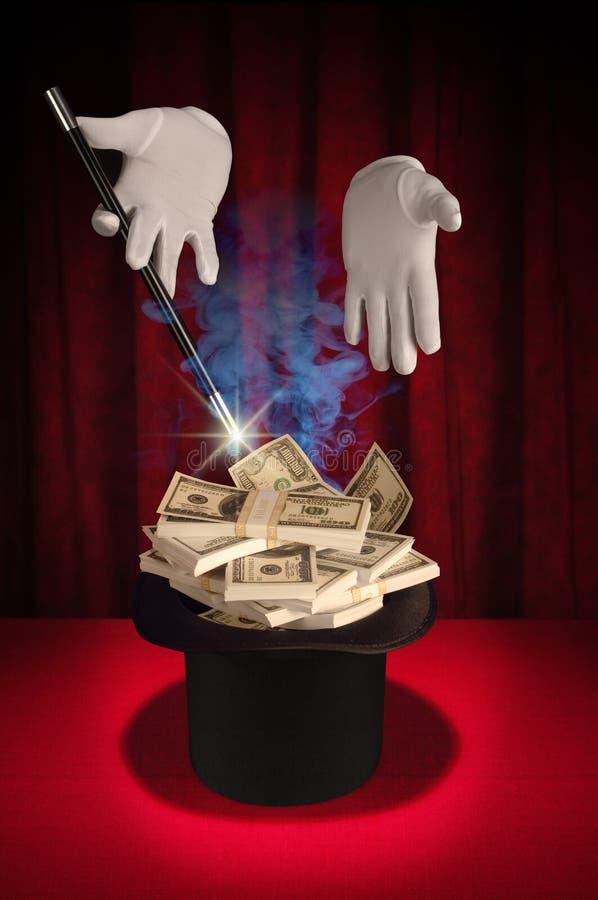 magiska pengar arkivfoto