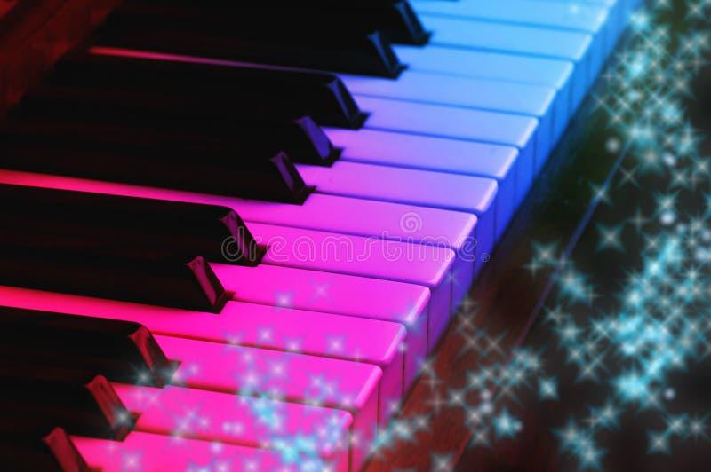magiskt piano royaltyfria bilder