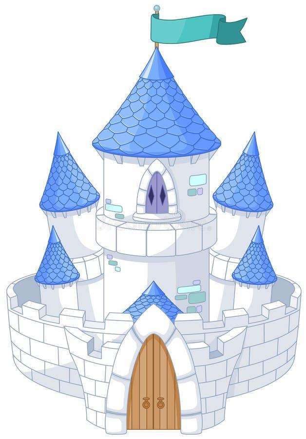 Magiskt slott vektor illustrationer