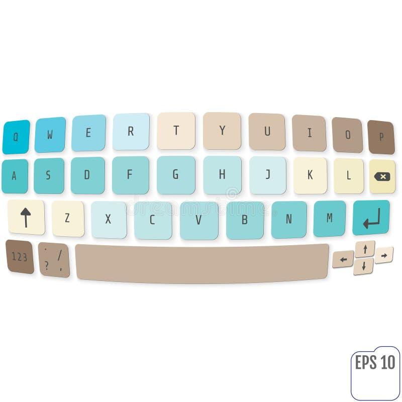 Magiskt tangentbord som isoleras på vit bakgrund Modern vektor vektor illustrationer