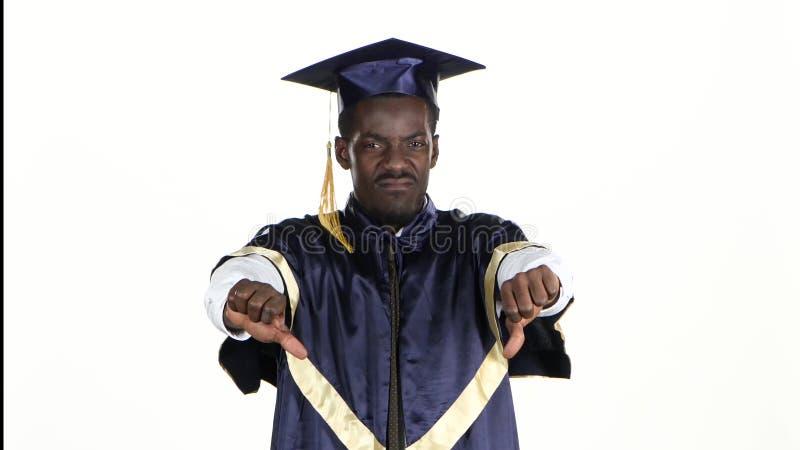 Magisterscy pouts Uczeń jest wzburzony biały z bliska zdjęcie wideo