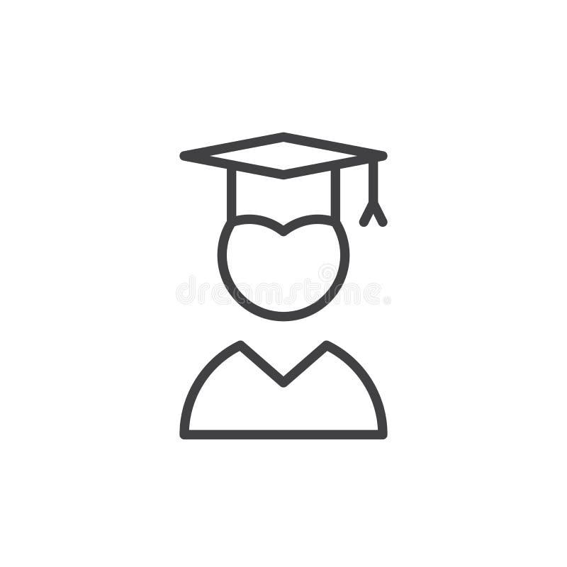 Magisterska kreskowa ikona ilustracja wektor