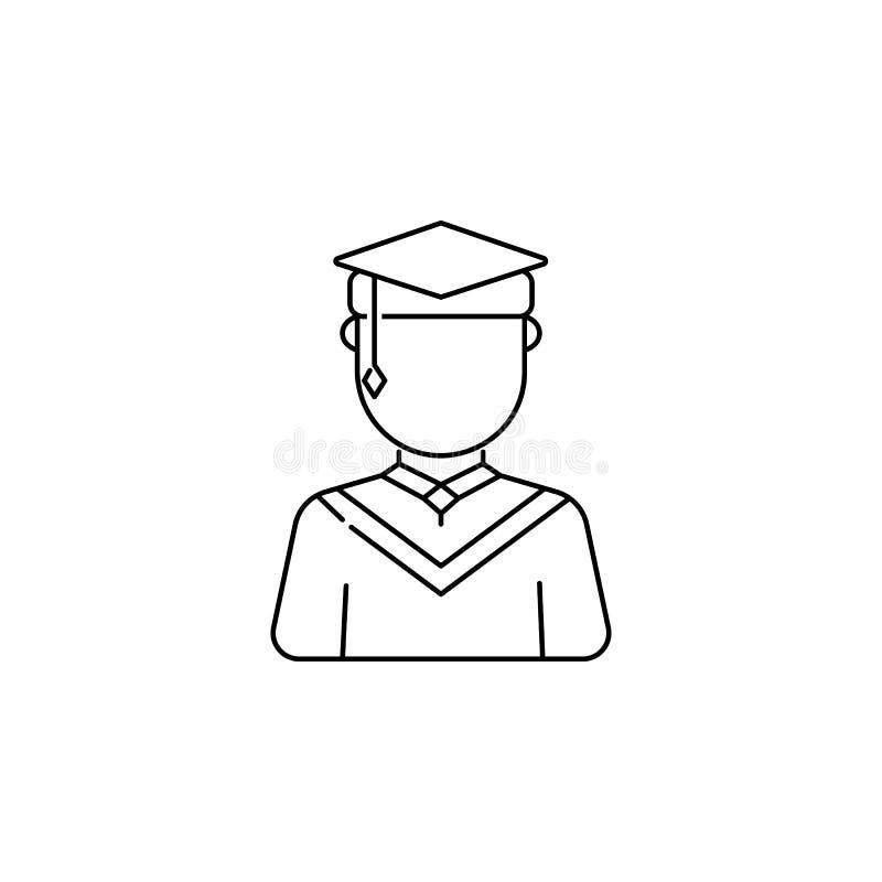 Magisterska męska avatars ikona ilustracji