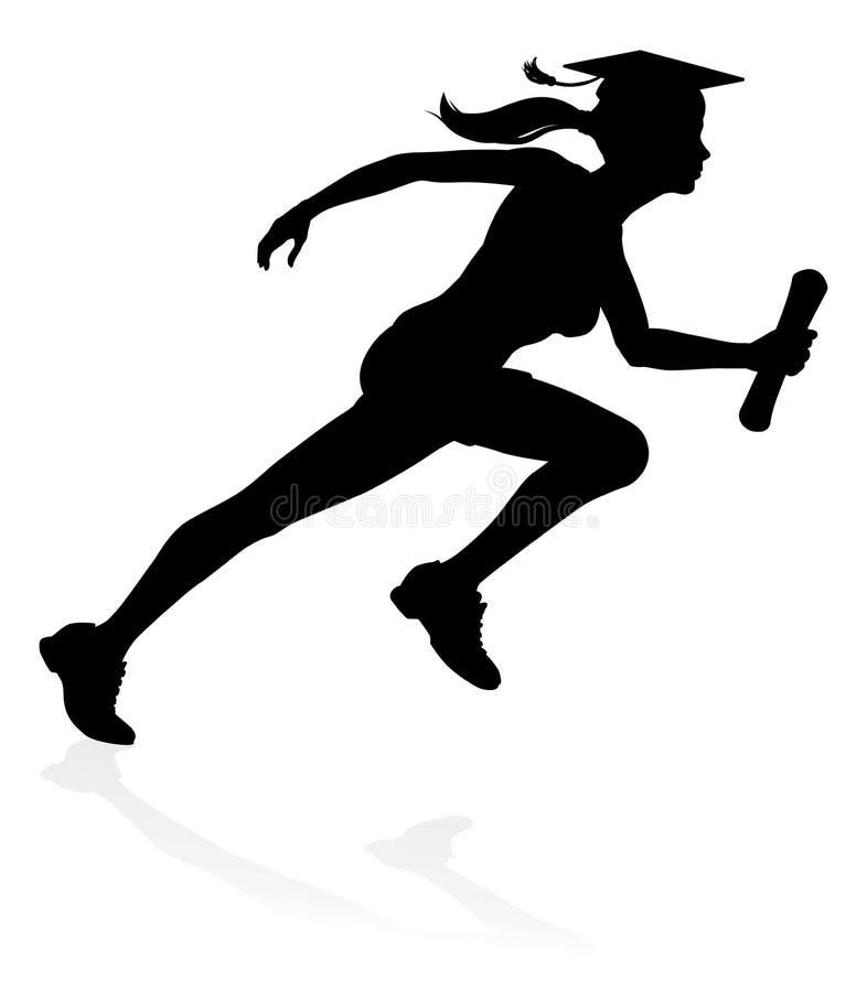 Magisterski biegacz edukaci pojęcie ilustracja wektor