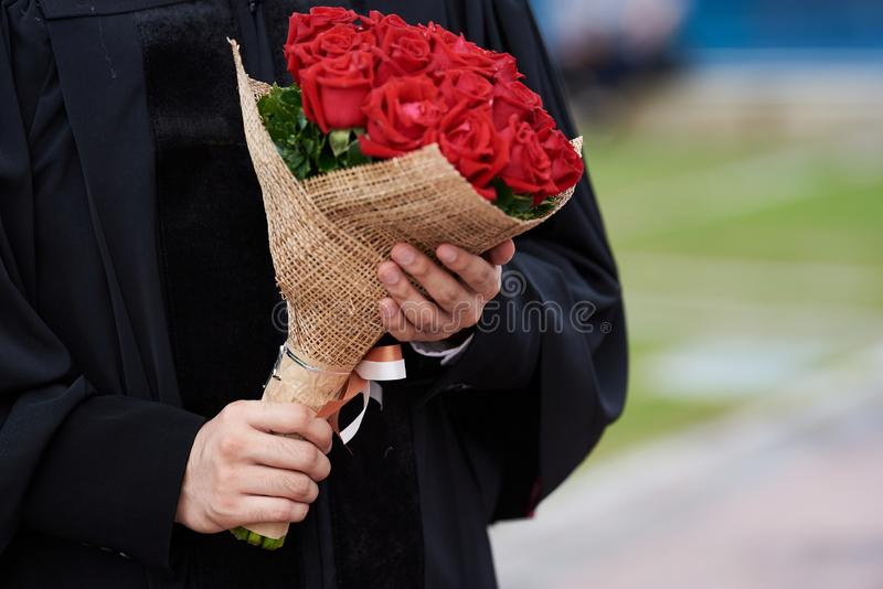 Magisterski mienie piękny różany bukiet obrazy stock