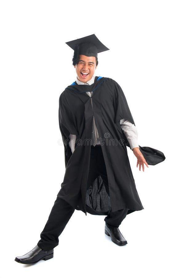 Magisterski student uniwersytetu w podnieceniu obrazy royalty free