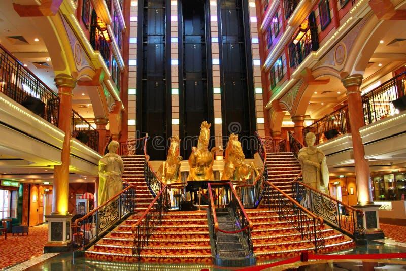 Magistrala lobby statek wycieczkowy fotografia royalty free