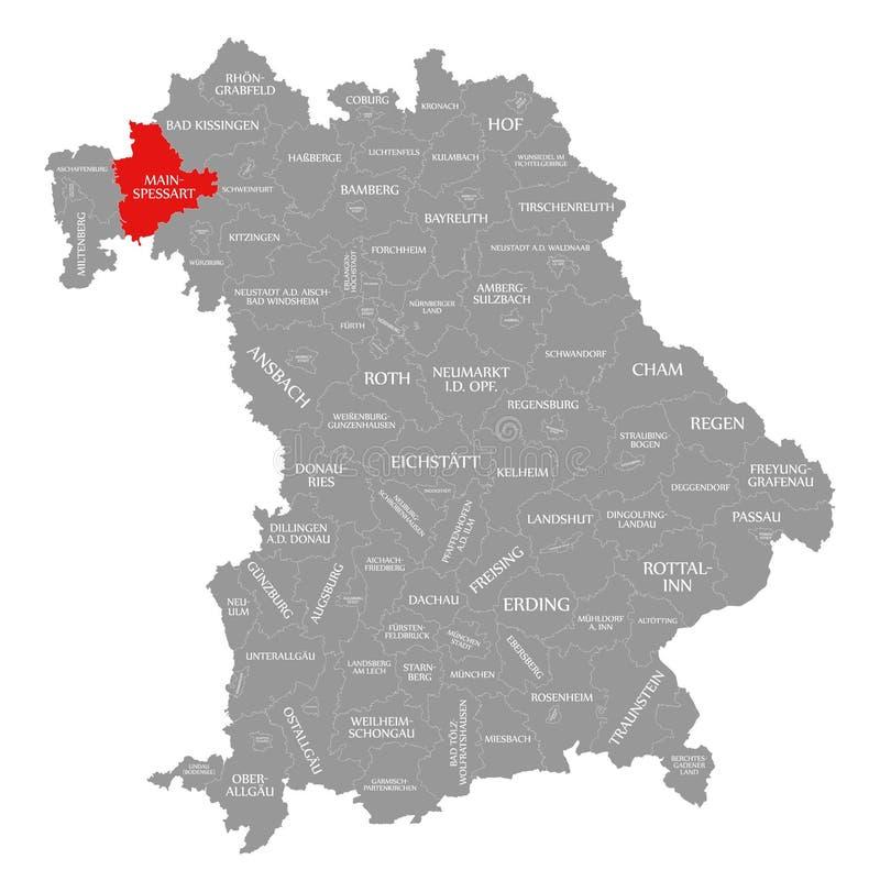 magistrala okręgu administracyjnego czerwień podkreślająca w mapie Bavaria Niemcy ilustracja wektor