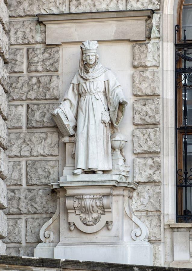 Magistrar of Geleerde door Edmund Hofmann van Aspernburg, Neue Burg of New Castle, Wenen, Oostenrijk royalty-vrije stock afbeeldingen