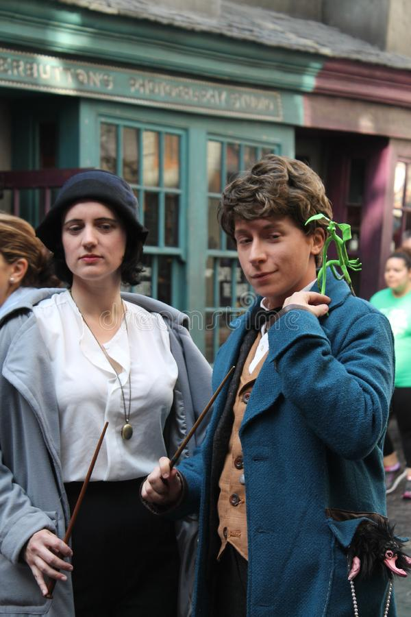 Free Magizoologist Newt Scamander And Mary Lou Barebone At Universal Studios Royalty Free Stock Photos - 93292818