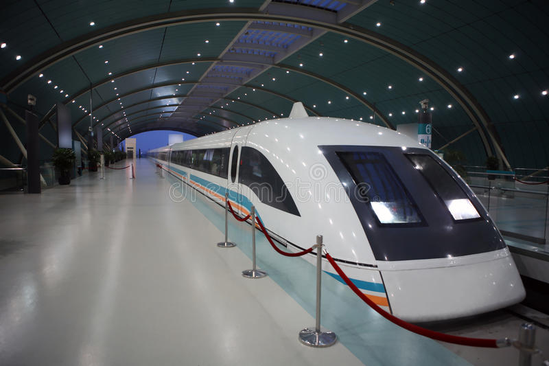 maglev Shanghai pociąg zdjęcie royalty free