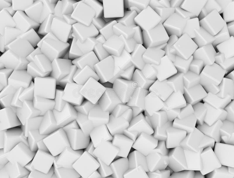 Maglia bianca dei cubi 3d illustrazione di stock