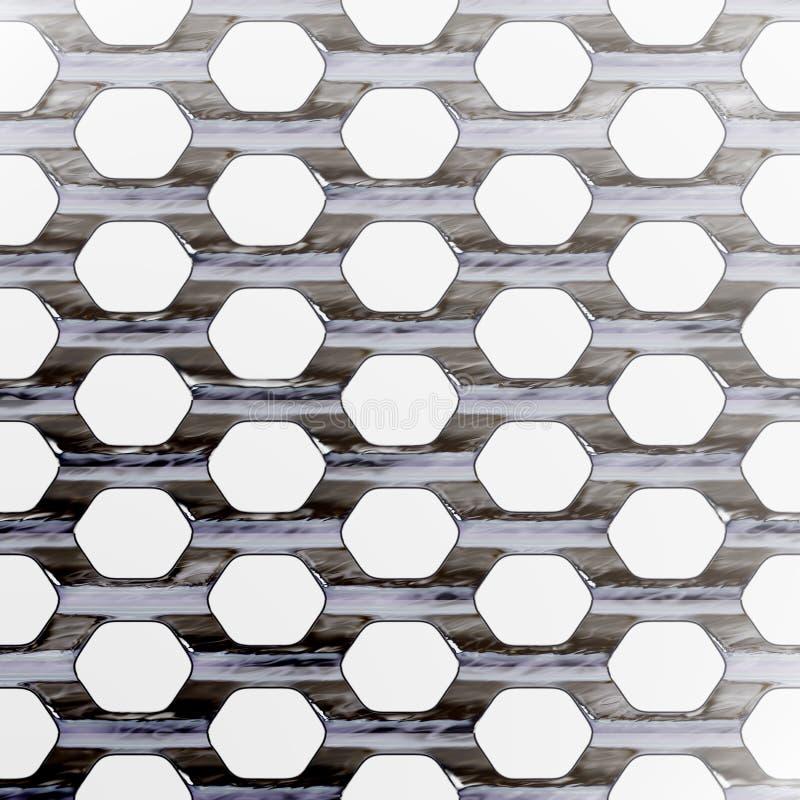 Maglia d'acciaio illustrazione di stock