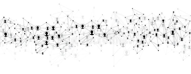 Maglia del sociale di comunicazione illustrazione vettoriale